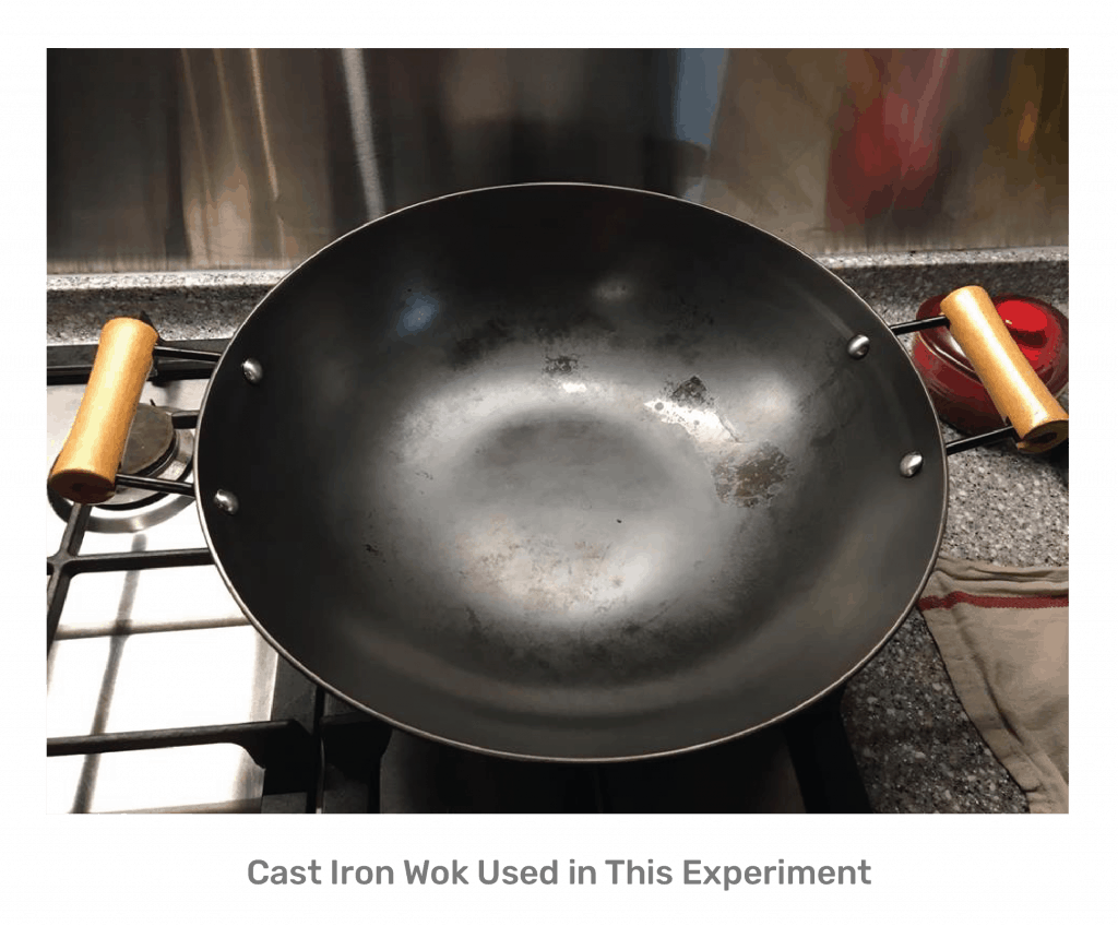 Zenez Cooking Wok Review - Cast Iron Wok Used in This Experiment