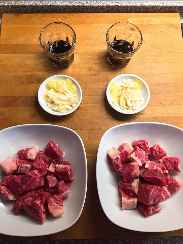 Zenez Cooking Wok Review - Portioning of Ingredients