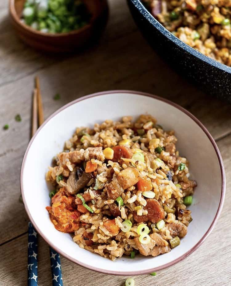 One-Pot Brown Rice with Pork and Veggie Recipe by Jen Jen