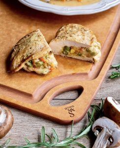 Jen Jen's Stuffed Chicken Pocket with Cheesy Veggie Recipe (Header)