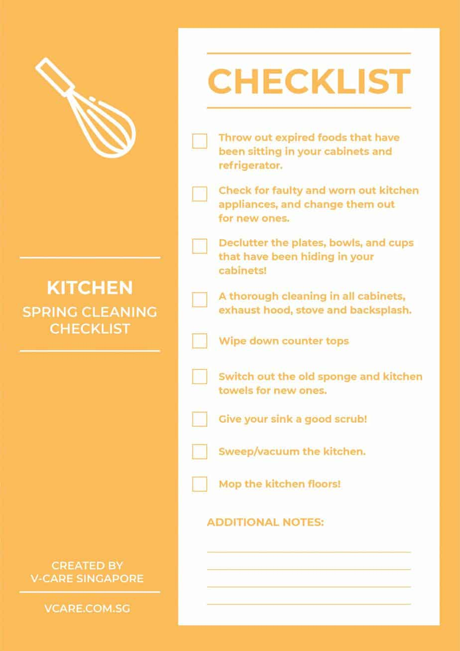 Spring Cleaning Checklist_Kitchen
